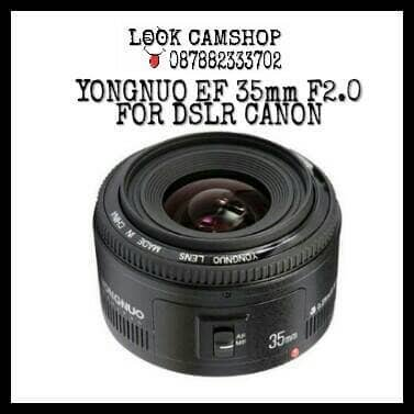 PROMO LENSA KAMERA DSLR YONGNUO YOUNGNOU YN 35mm 35 F 2 0 FOR CANON